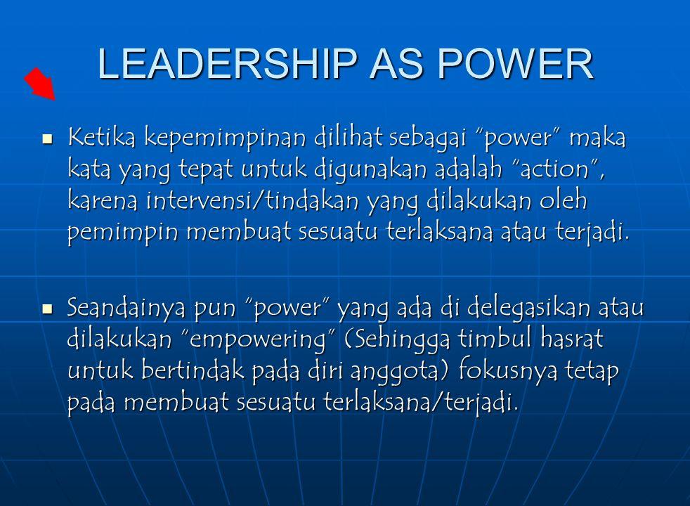 LEADERSHIP AS POWER