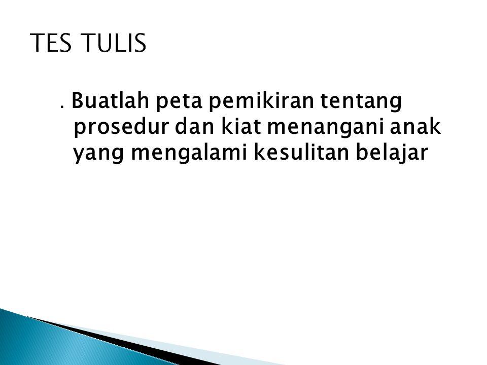 TES TULIS .
