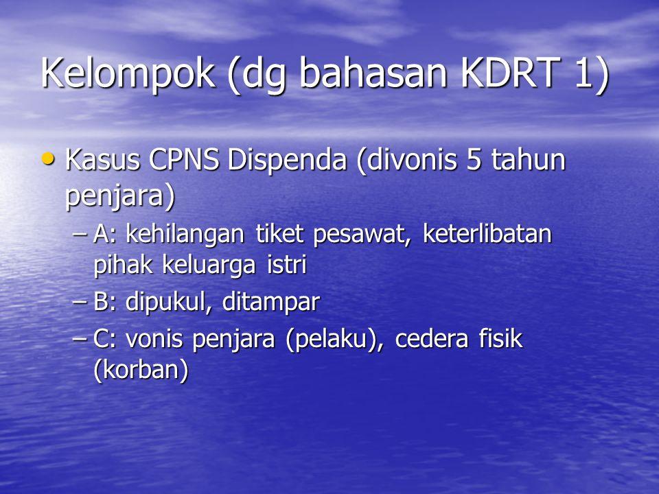Kelompok (dg bahasan KDRT 1)