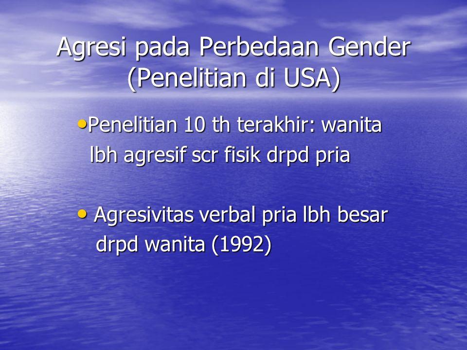 Agresi pada Perbedaan Gender (Penelitian di USA)