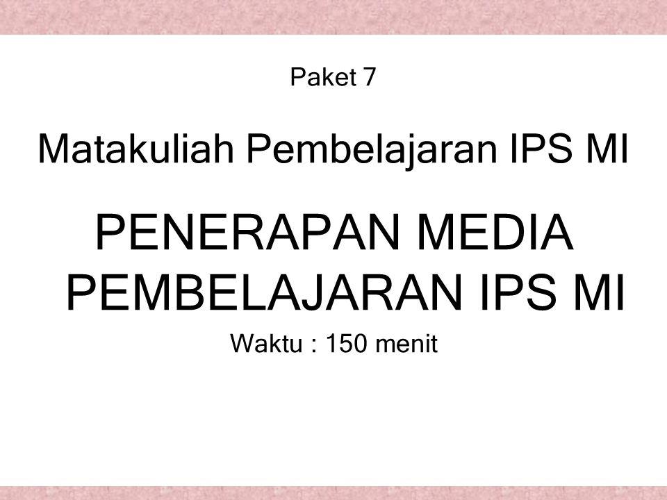 Paket 7 Matakuliah Pembelajaran IPS MI