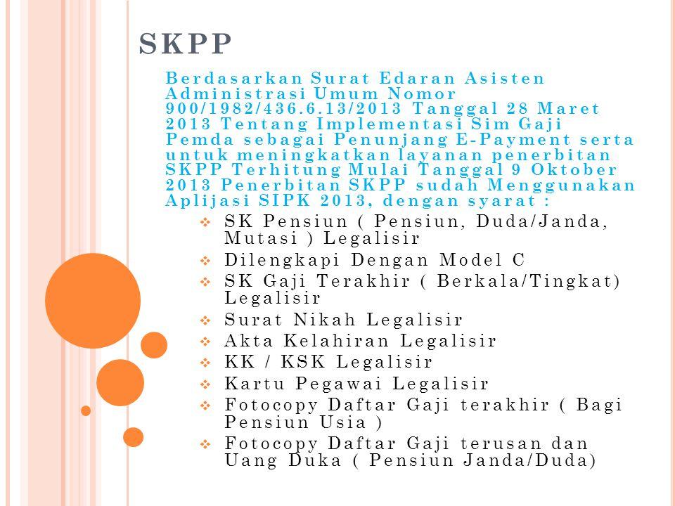 SKPP SK Pensiun ( Pensiun, Duda/Janda, Mutasi ) Legalisir