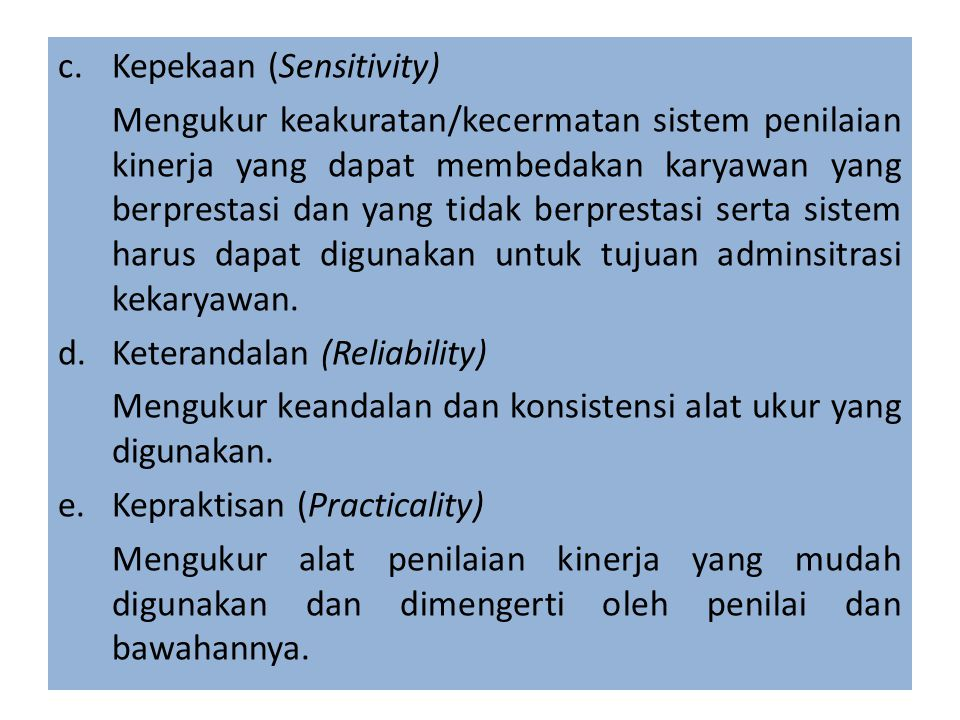 Kepekaan (Sensitivity)