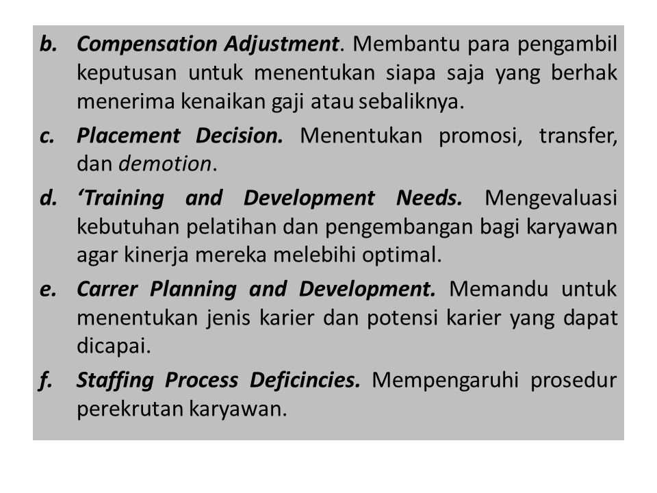 Compensation Adjustment