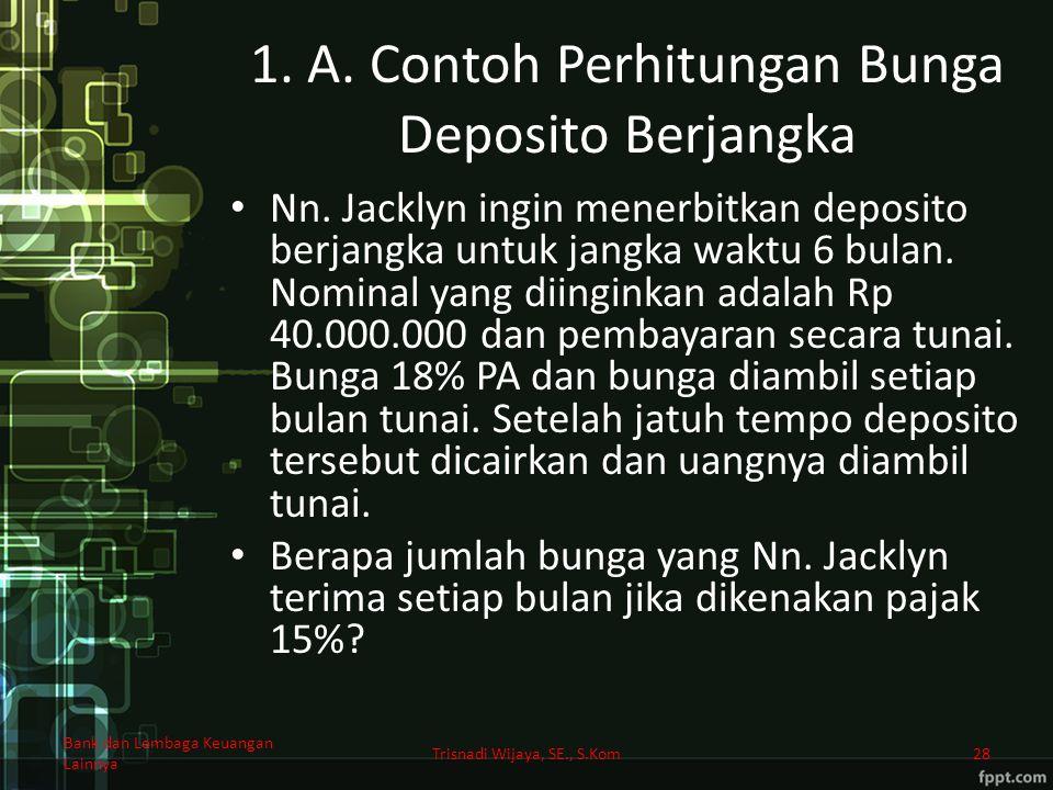 1. A. Contoh Perhitungan Bunga Deposito Berjangka