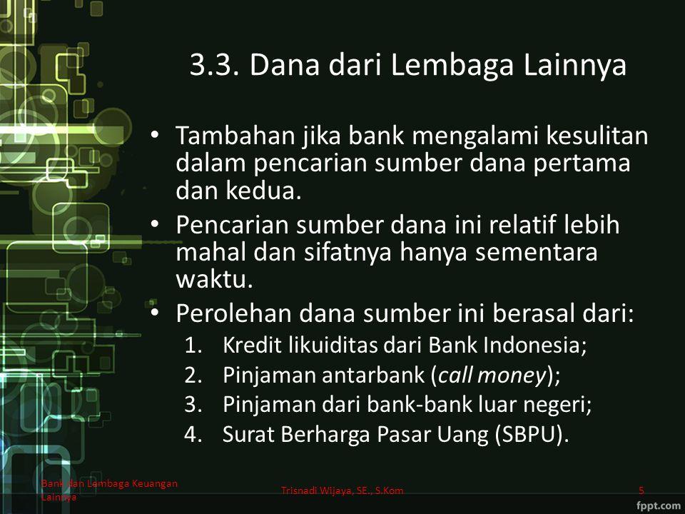 3.3. Dana dari Lembaga Lainnya