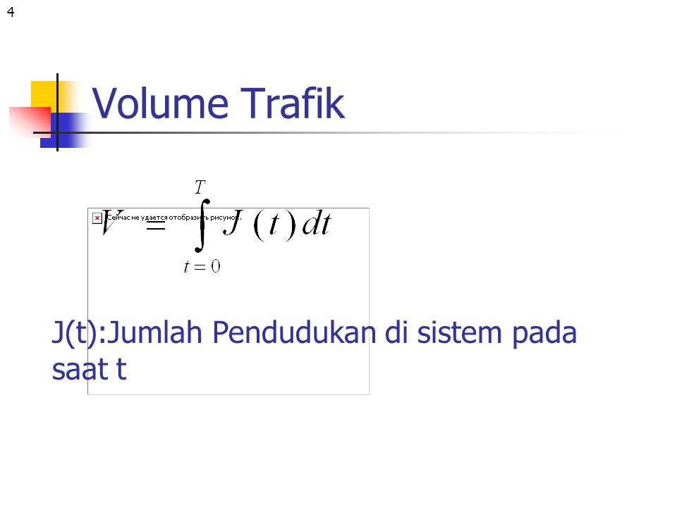 Volume Trafik J(t):Jumlah Pendudukan di sistem pada saat t