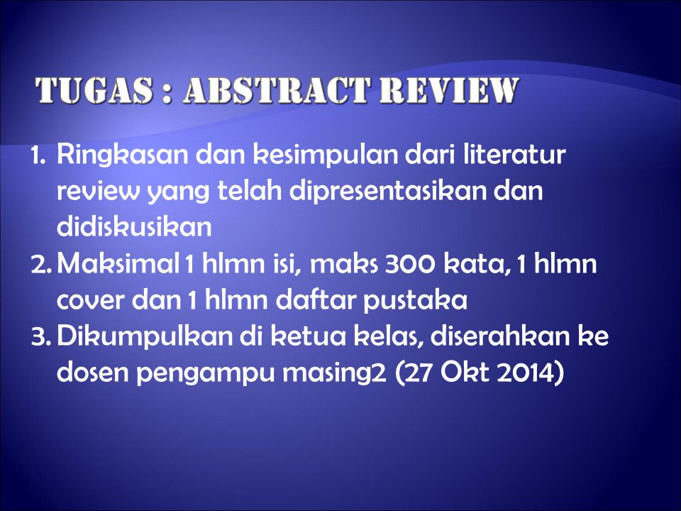 Tugas : abstract review