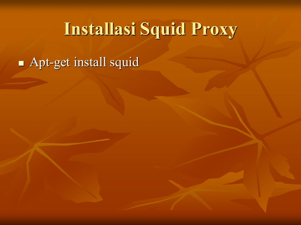 Installasi Squid Proxy