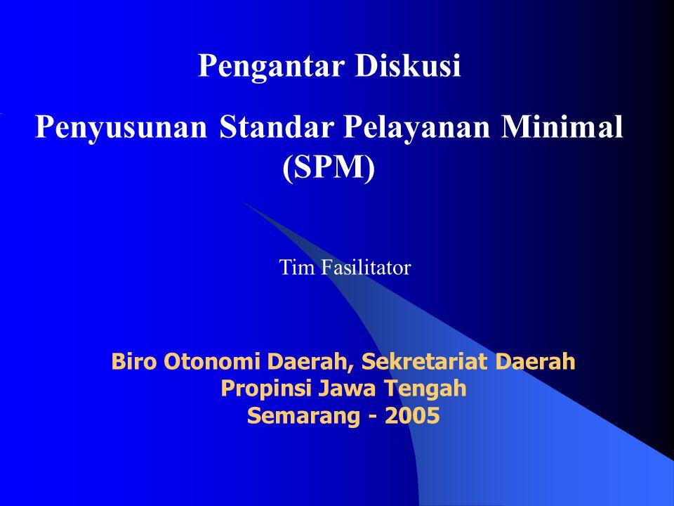 Penyusunan Standar Pelayanan Minimal (SPM)