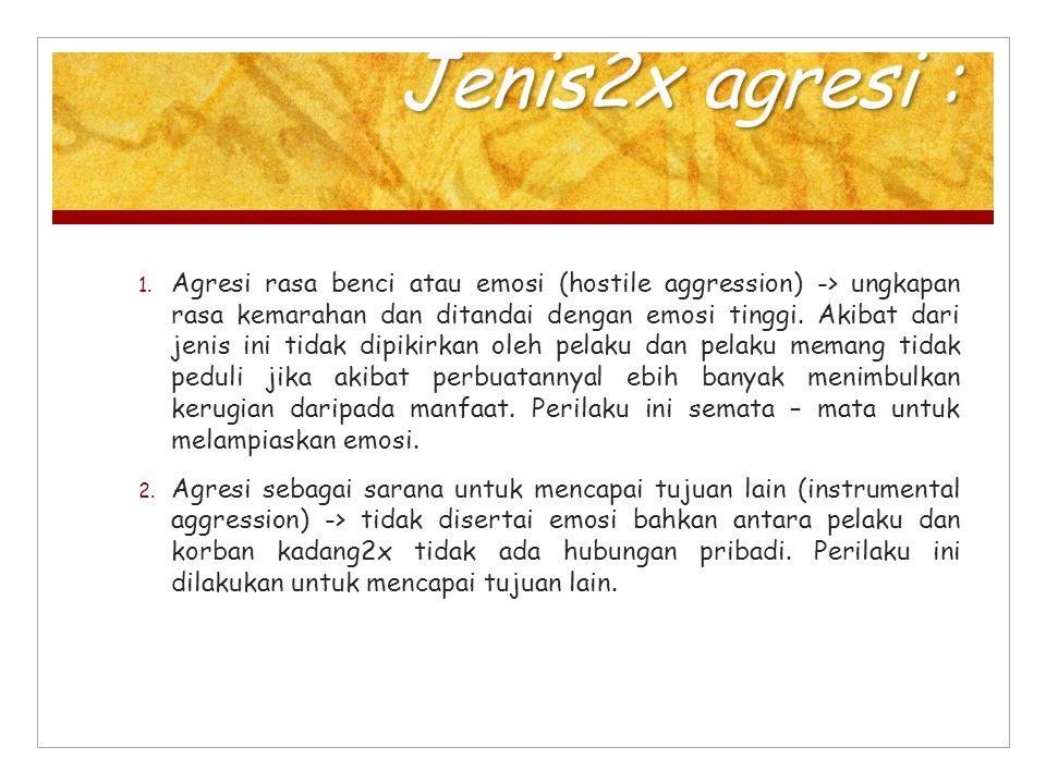 Jenis2x agresi :