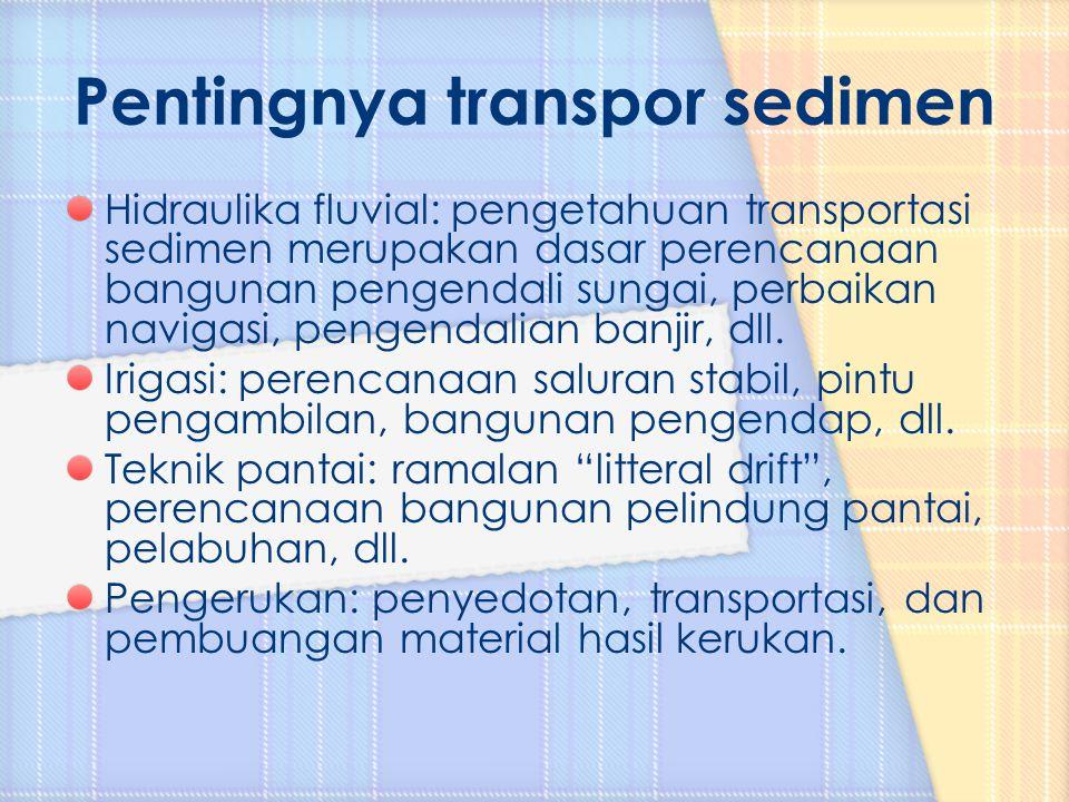 Pentingnya transpor sedimen