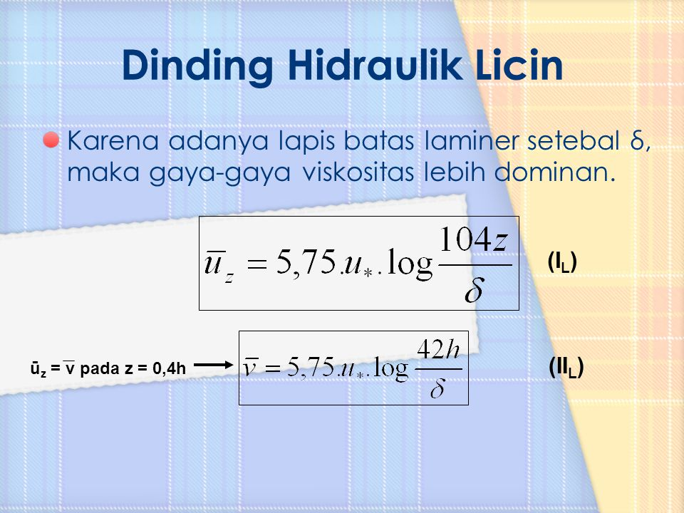 Dinding Hidraulik Licin