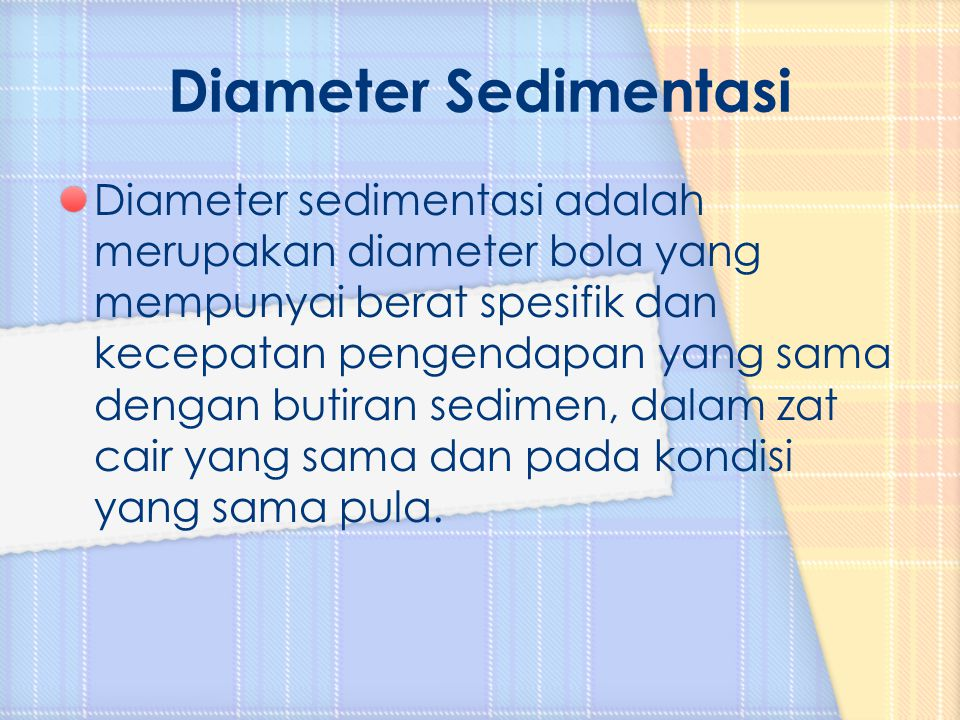 Diameter Sedimentasi