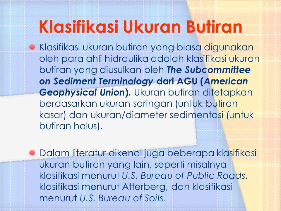 Klasifikasi Ukuran Butiran