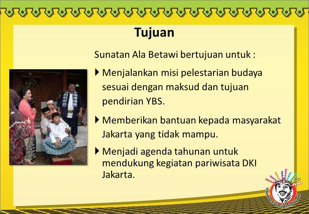 Tujuan Sunatan Ala Betawi bertujuan untuk :