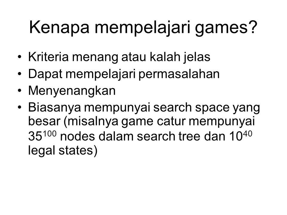 Kenapa mempelajari games