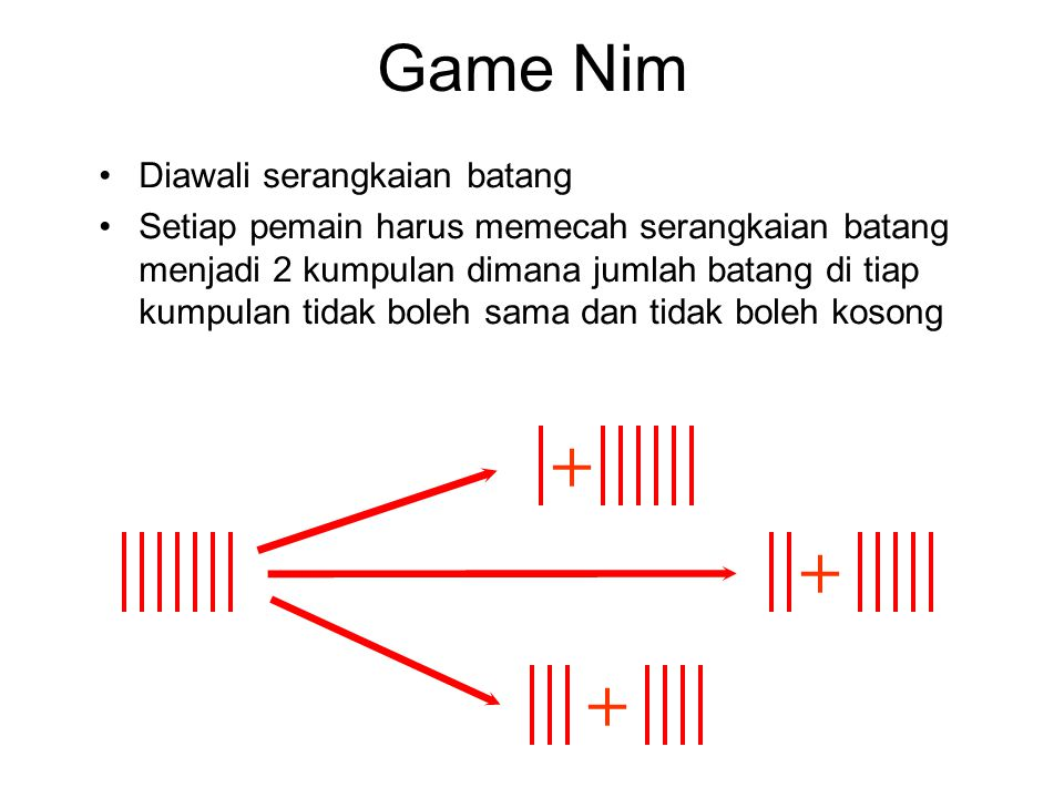 + + + Game Nim Diawali serangkaian batang