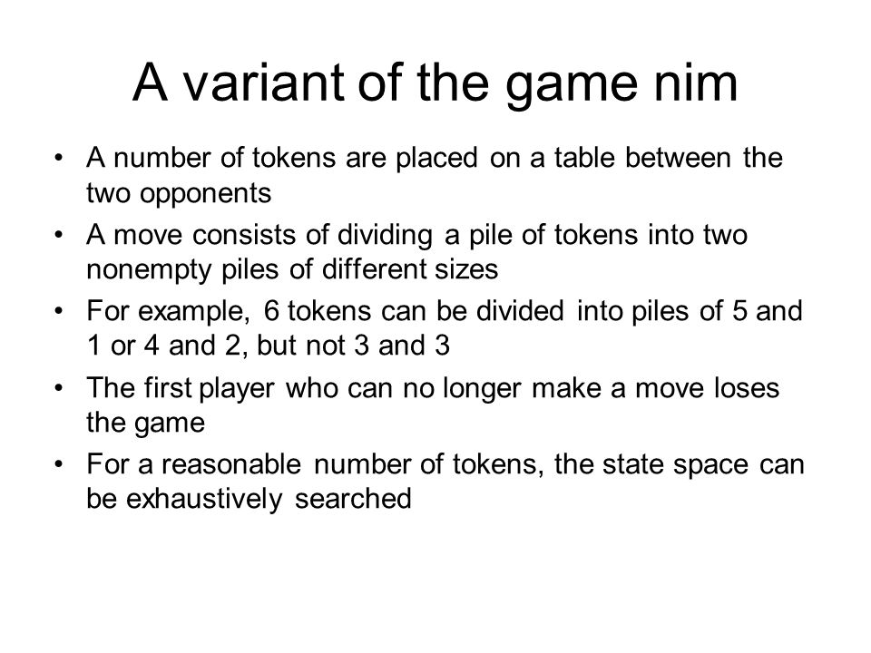 A variant of the game nim