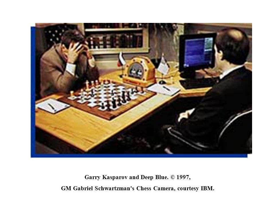 Garry Kasparov and Deep Blue. © 1997,