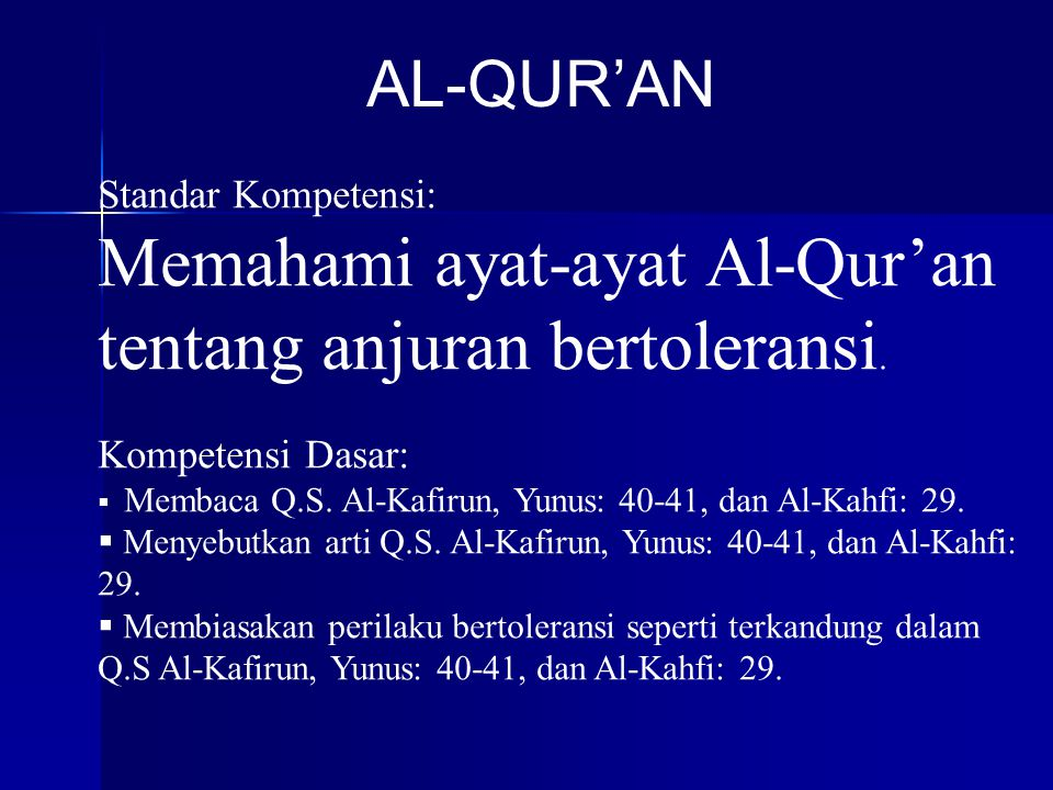 Memahami ayat-ayat Al-Qur'an tentang anjuran bertoleransi.