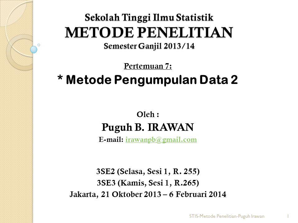 * Metode Pengumpulan Data 2
