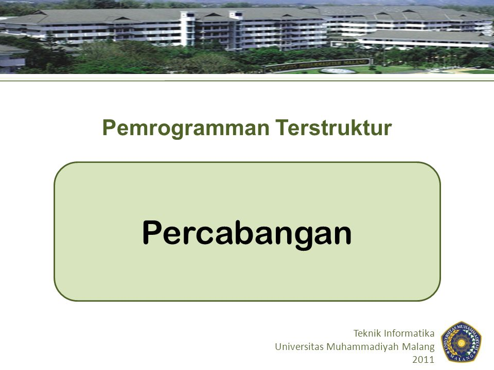 Pemrogramman Terstruktur