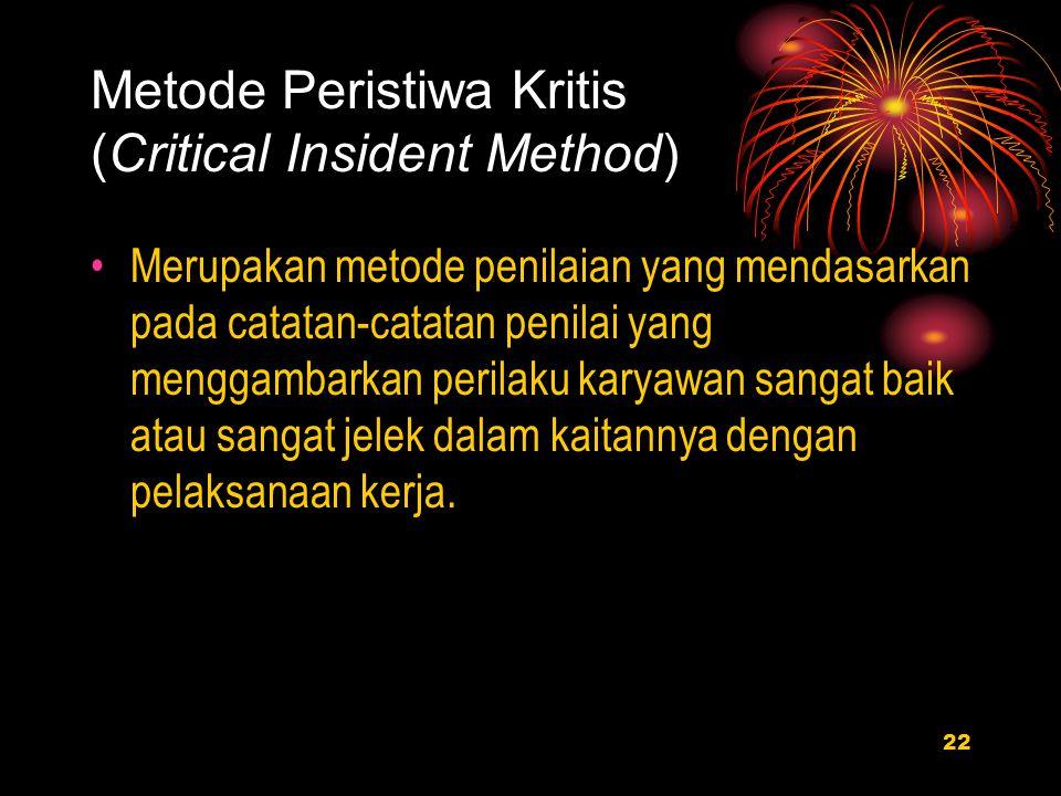 Metode Peristiwa Kritis (Critical Insident Method)