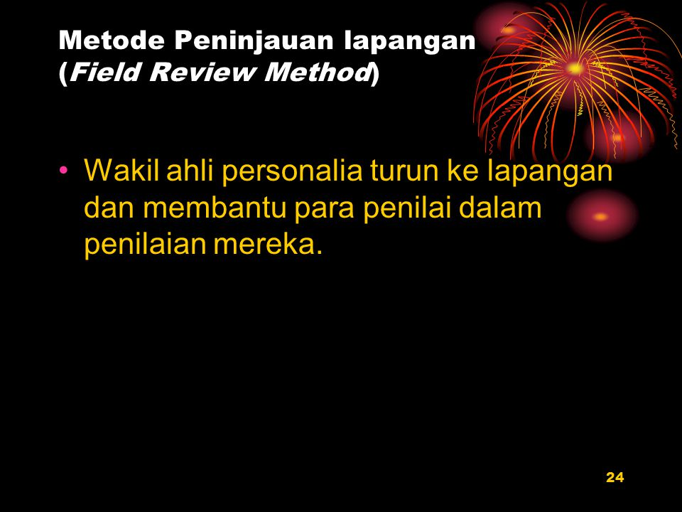 Metode Peninjauan lapangan (Field Review Method)