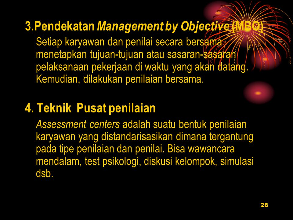 3.Pendekatan Management by Objective (MBO)