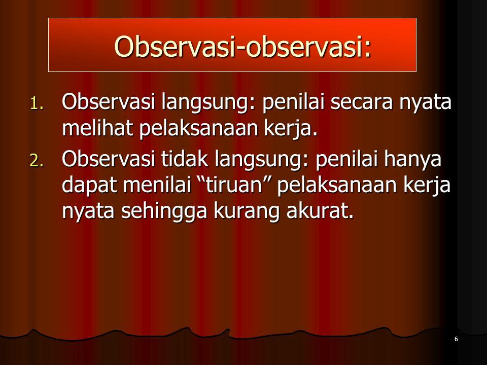 Observasi-observasi:
