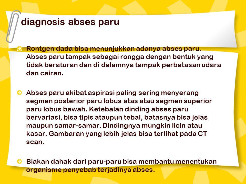 diagnosis abses paru