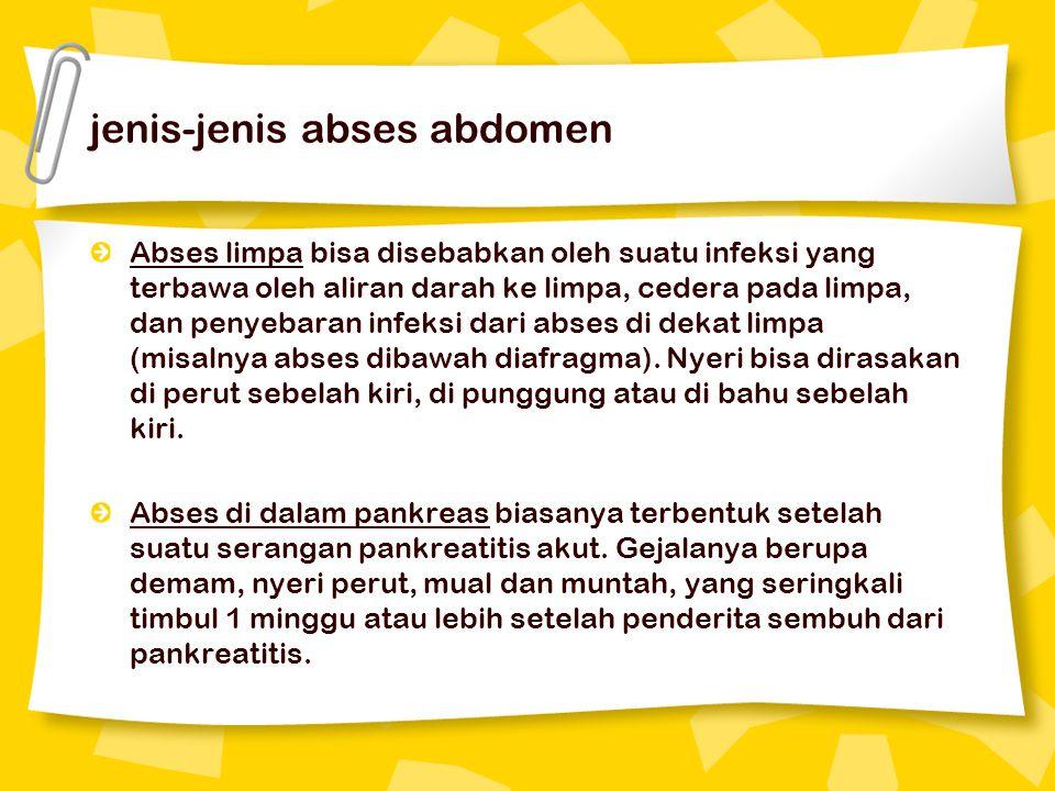 jenis-jenis abses abdomen