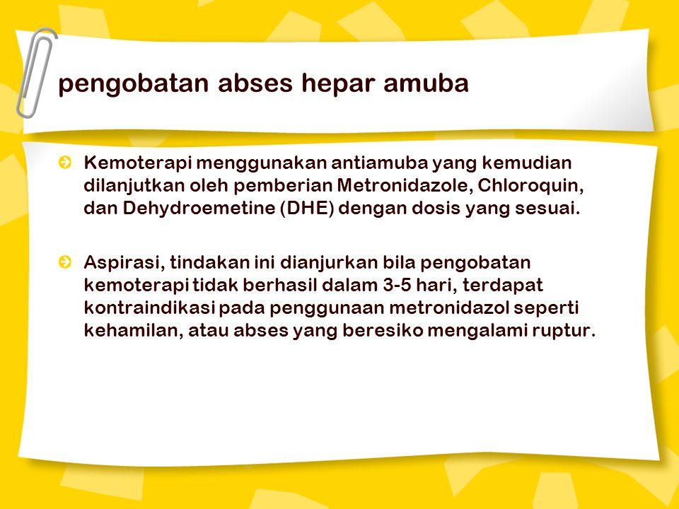 pengobatan abses hepar amuba
