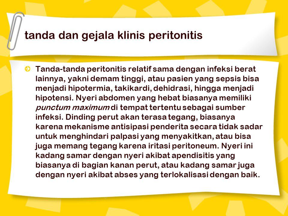 tanda dan gejala klinis peritonitis
