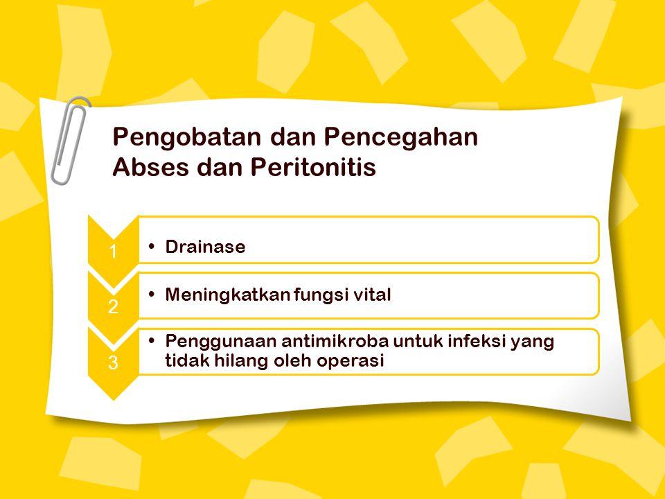 Pengobatan dan Pencegahan Abses dan Peritonitis
