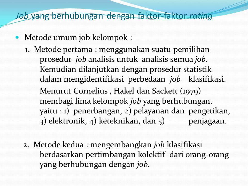 Job yang berhubungan dengan faktor-faktor rating