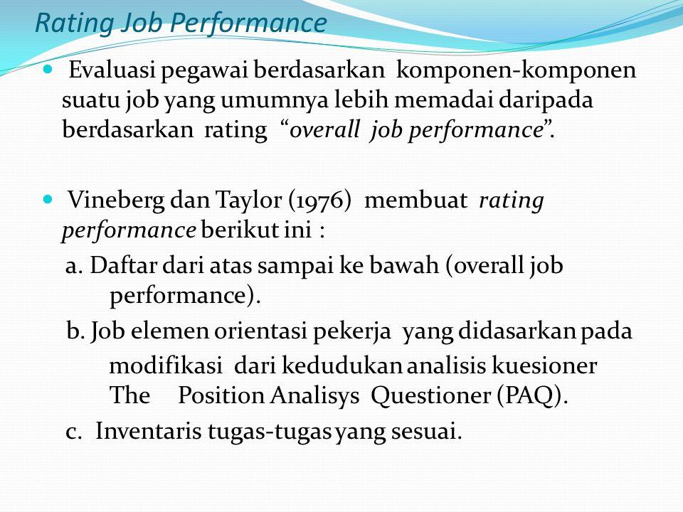 Rating Job Performance
