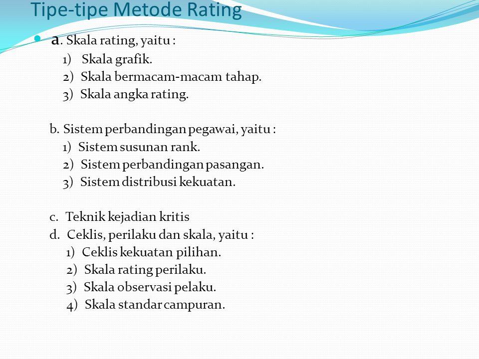 Tipe-tipe Metode Rating