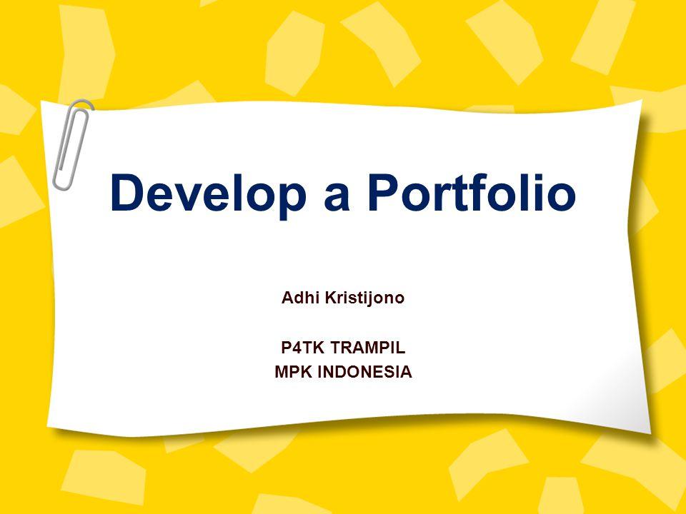 Adhi Kristijono P4TK TRAMPIL MPK INDONESIA