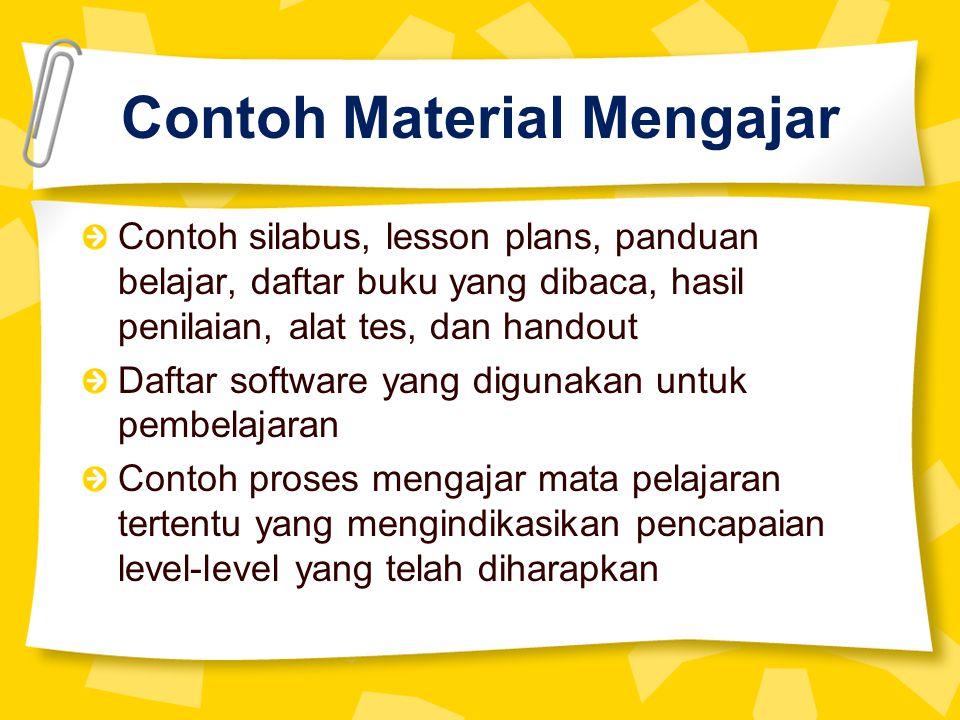 Contoh Material Mengajar