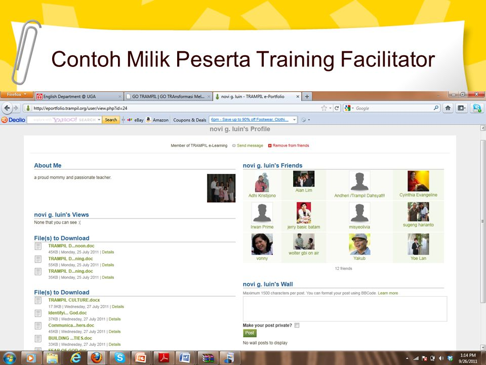Contoh Milik Peserta Training Facilitator