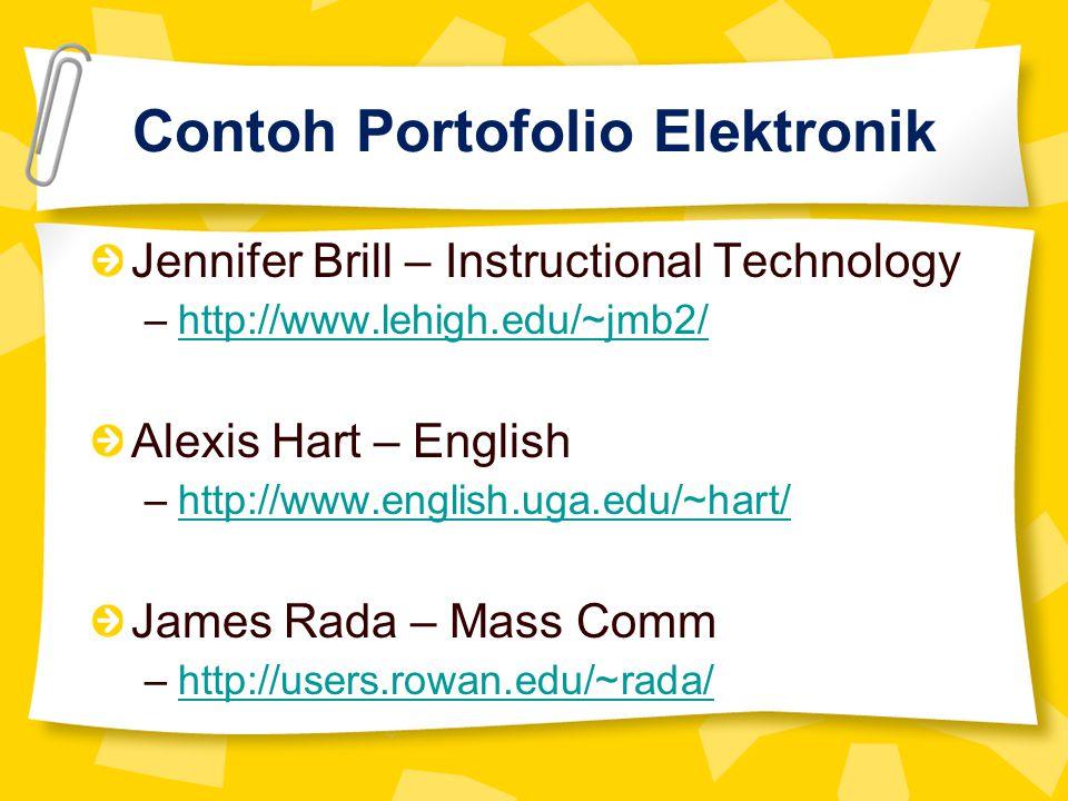 Contoh Portofolio Elektronik