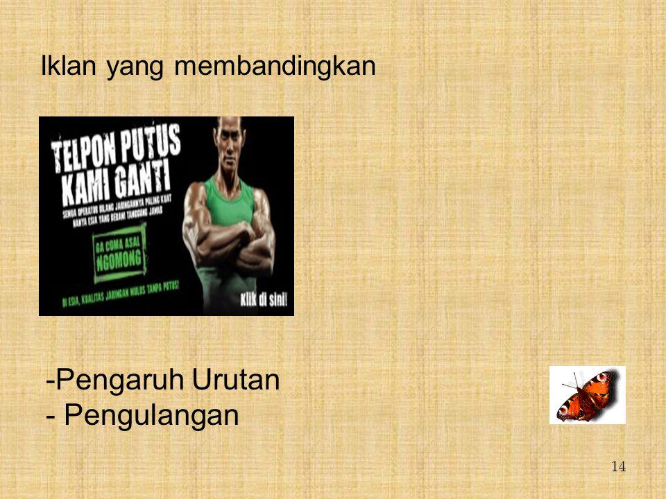 Iklan yang membandingkan