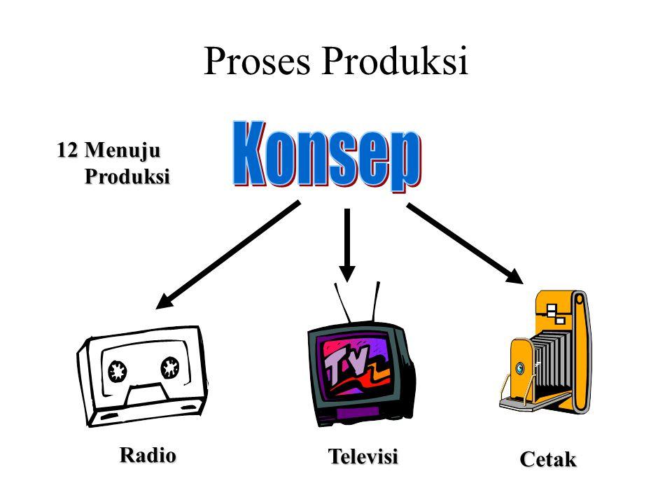 Proses Produksi Konsep 12 Menuju Produksi Radio Televisi Cetak