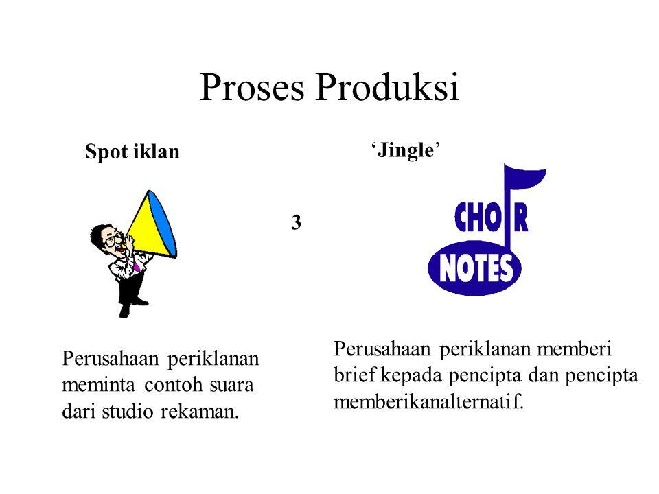 Proses Produksi Spot iklan 'Jingle' 3 Perusahaan periklanan memberi
