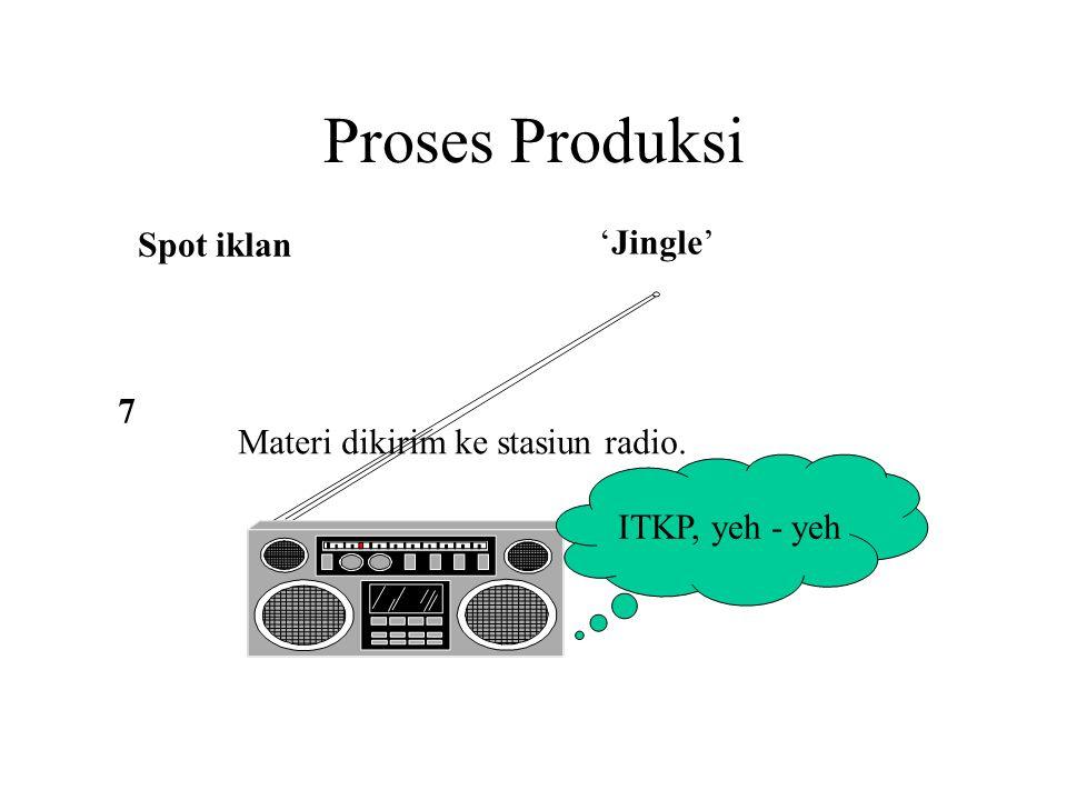 Proses Produksi Spot iklan 'Jingle' 7 Materi dikirim ke stasiun radio.