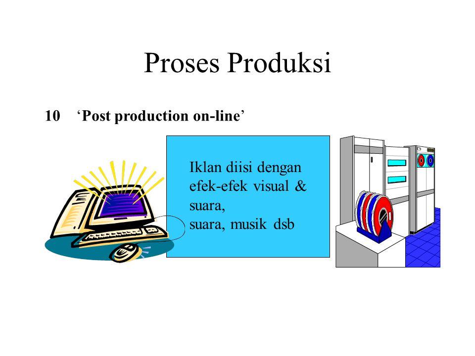 Proses Produksi 10 'Post production on-line' Iklan diisi dengan