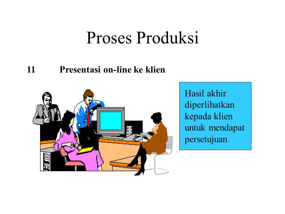 Proses Produksi 11 Presentasi on-line ke klien Hasil akhir