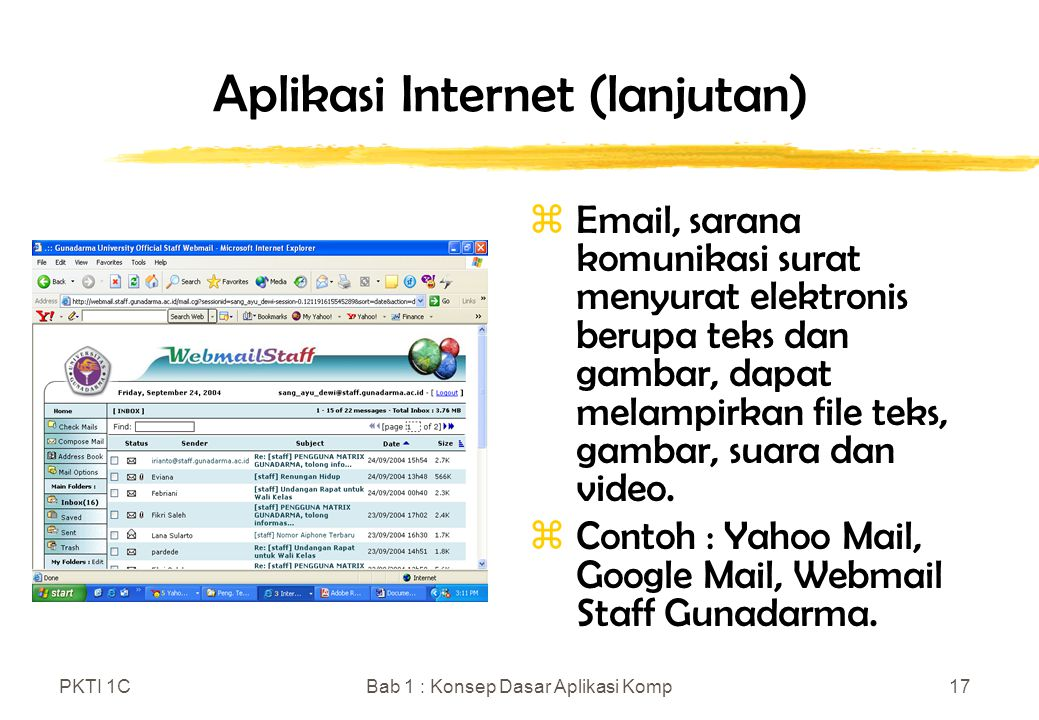 Aplikasi Internet (lanjutan)